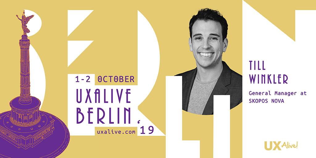 Till WInkler auf dem UXALIVE Berlin 2019