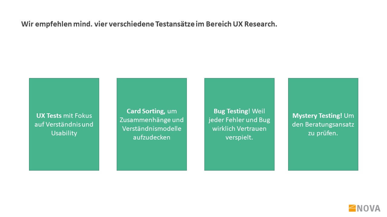 UX Research Antragsstrecke