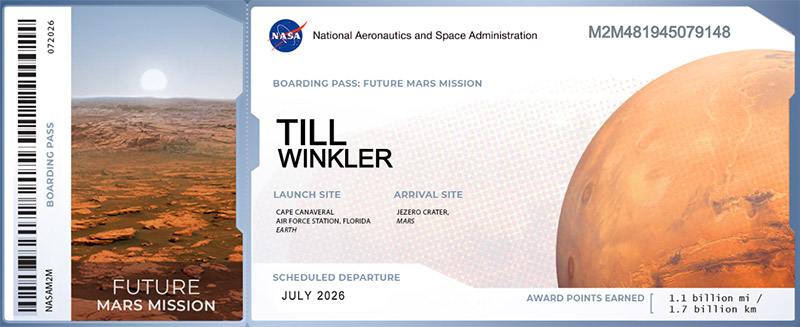 Boarding Pass NASA